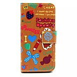 Cartoon Painting Patterns Take Card PU Leather Full Body Case for iPhone 6 (Assorted Color)