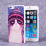 Disdain Cat Pattern Hard Case with Screen Protector Flim for iPhone 6