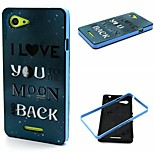 English  Pattern TPU + PC Side Combo Phone Case For Sony Xperia E3