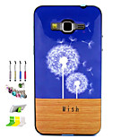 Dandelion Pattern Combo Material Phone Case And Support Dust Plug Stylus Pen for Samsung Galaxy Grand Prime G530H