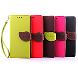 Deluxe Litchi Leaves Wallet Leather Flip Tpu Case For Sony Xperia M2 Wallet Handbag + Lanyard