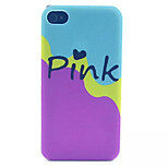 motif de lait rose pc transparent givré couverture arrière pour iPhone 4 / 4S