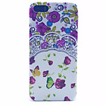 Purple Flowers Pattern PC Hard Case For iPhone 5/5S