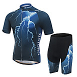 XINTOWN Lightning Unisex Short Sleeve Spring/Summer/Autumn Cycling Tracksuit Shorts Breathable/Quick Dry/Wicking Blue