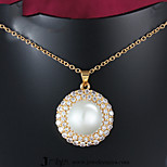 Z&X® Gold Plated Fashion Pearl/Zircon Pendant Necklaces Party/Daily