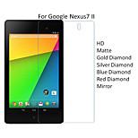 10PCS High Quality PET HD Transparent Screen Protector Films For Google Nexus7 II