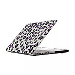 High Quality Fashion Leopard Print Flip PVC Full Body Hard Case Cover for Macbook Retina 13.3 inch