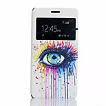 Tearful Eyes  Pattern PU Leather Phone Case For Sony Z4