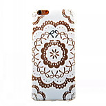 Sunflower Pattern TPU Painted  Soft Back Cover for iPhone 6 Plus