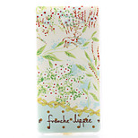 Leaves Pattern Material TPU Soft Phone Case for Sony Xperia M2