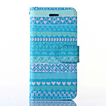 Attractive Style Pattern PU Leather Full Body Case with Stand for iPhone6