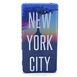 New York City Pattern PC Hard Material Phone Case for Sony Xperia M2 S50h D2303 D2305