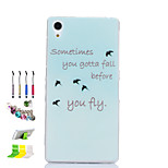 Asuka Pattern Slim TPU Material Soft Phone Case And Dust Plug Stylus Pen Stand Combination for Sony Z2