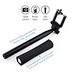Multi-function Bluetooth Selfie Stick With Powerbank & LED Flashlight 3 in 1 For Mobile Phone