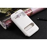PU Leather Special Design Body  Open the window Case for Samsung Galaxy Core 2 G3556D(Assorted Color)