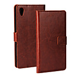 Solid Color PU Leahter Wallet Flip Stand Case for Sony Xperia M4 Aqua (Assorted Colors)
