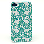 Like  Pattern Transparent Frosted PC Back Cover  For iPhone 4/4S