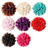 5Pcs DIY Handmade Polka Dot Lace Chiffon Flower for Headbands, Scrapbooking and More Decoration(Random Delivery)