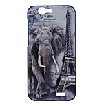 Elephant Pattern PC Material Phone Case for Huawei Ascend G7
