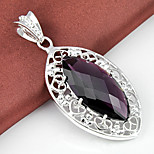 Fashion Jewelry Horse Eye Amethyst Gem 925 Silver Pendants for Necklaces For Wedding Party Daily Casual 1pc