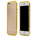Ultra Thin PC Bumper Frame Case for iPhone 6 4.7 Inch Transparent Candy Double Color Border Protective Back Cover Case