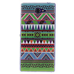 COCO FUN® Triangle Tribal Pattern Soft TPU IMD Back Case Cover for Sony Xperia M2 S50h