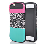 The new for iphone6plus light oil combo stick design small waist leopard mobile phone shell