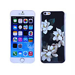 White flowers Pattern TPU And IMD Soft Case for iPhone 5/5S