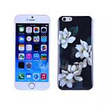 fiori bianchi modello TPU e custodia morbida IMD per il iphone 5 / 5s