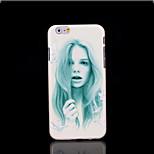 copertura del modello di bellezza per iphone 6 più caso