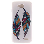 Two Feather Patterns TPU Soft Case for LG 90