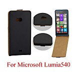 Korea Imitation Leather Upper And Lower Open for Microsoft Lumia 540