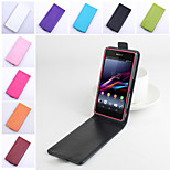 Protective PU Leather Magnetic Vertical Flip Case for Sony Xperia Z1 Mini(Assorted Colors)