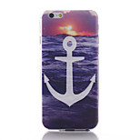 Anchors Pattern TPU Material Soft Phone Case for iPhone 6