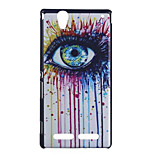 Eye Pattern Hard Cover Back Case Plastic for Sony Xperia T2 Ultra