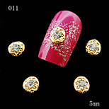 011 DIY 10pcs/lot Nail Alloy Rhinestones 3D Golden Nail Sticker Rhinestones Phone Sticker Decoration