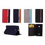 Hit Color No Buckle PU Leather Full Body Case for Microsoft Lumia 435 (Assorted Color)