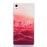 Be Happy Cloud Pattern TPU Soft Case for Sony Xperia Z1 L39H C6903