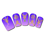 Necklace Design Hot Stamping Nail Art Stickers