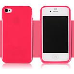 la couleur du fruit glacé de TPU de téléphone pour iPhone 4 / 4S (couleurs assorties)