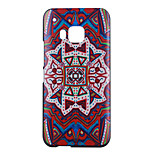Red Flowers Pattern PC Material Phone Case for HTC M9