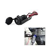 12V Black Motorcycle Mobile Phone USB Charger Power Adapter Socket Waterproof