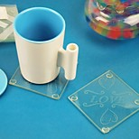 Personality Glass Picture Frames Cup Mat