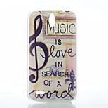 Music Pattern of Transparent Frosted PC Material Phone Case for Huawei  G610
