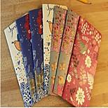 Flower Bird Pattern Retro Brown Paper Notebook(Random Color)