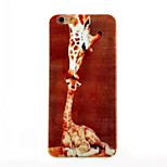 Maternal Love Pattern TPU Painted  Soft Back Cover for iPhone 6