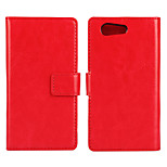 Magic Spider®Crazy Horse Open PU Wallet Case with Stand and Screen Protector for Sony Z4 mini(Assorted Colors)