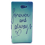 Forever And Always Love Pattern PC Hard Material Phone Case for Sony Xperia M2 S50h D2303 D2305