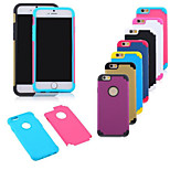 Multicolor PC +Silicone Combo Phone Case For iPhone 6  (Assorted Colors)