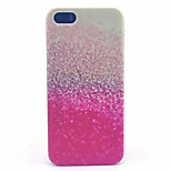 Glitter Pattern Transparent Frosted PC Back Cover For  iPhone 5/5S